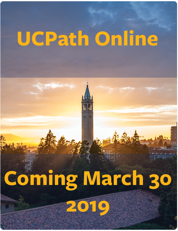 UCPath Online Coming March 30 2019