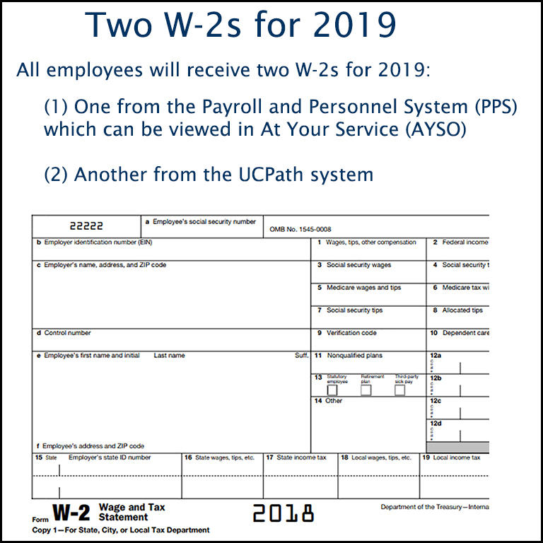 Two W-2s for 2019